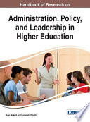 Handbook of Research on Administration  Policy  and Leadership in Higher Education