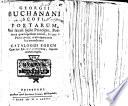 Geor. Buchanani ... poemata quæ extant, etc