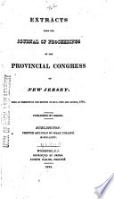 Journal of the Votes and Proceedings of the Provincial Congress of New Jersey