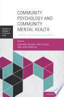 Community Psychology And Community Mental Health