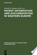 Patent Information and Documentation in Western Europe