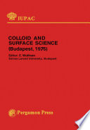 Colloid and Surface Science