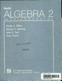 Heath Algebra 2 with trigonometry
