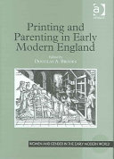 Printing and Parenting in Early Modern England