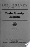 Soil Survey  detailed Reconnaiasance  of Dade County  Florida