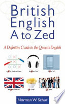 British English A to Zed