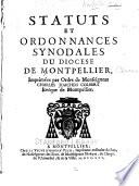Statuts et ordonnances synodales du diocese de Montpellier