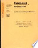 Vegetation Management For Reforestation California National Forests book