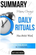 Mason Currey s Daily Rituals