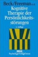 Kognitive Therapie der Persönlichkeitsstörungen