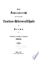 Jahresbericht über die nied. österr. Landes-Oberrealschule in Krems