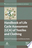 Handbook Of Life Cycle Assessment Lca Of Textiles And Clothing