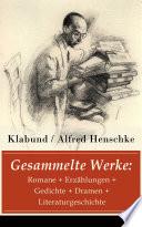 Gesammelte Werke  Romane   Erz  hlungen   Gedichte   Dramen   Literaturgeschichte
