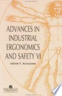 Advances In Industrial Ergonomics VI