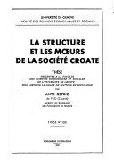 La structure et les moeurs de la société croate