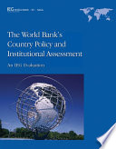 The World Bank's Country Policy and Institutional Assessment Bank S Country Policy And Institutional Assessment