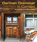 German Grammar in Context  Second Edition