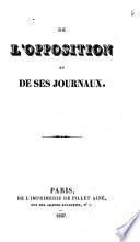 De l'opposition et ses journaux