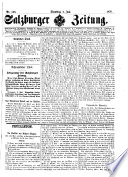 Salzburger Zeitung 1807   1918