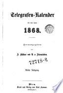Telegrafen-Kalender für das Jahr ...