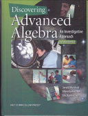 Discovering Advanced Algebra