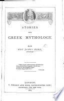Stories from Greek Mythology. [With illustrations.]