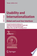 Usability and Internationalization  Global and Local User Interfaces