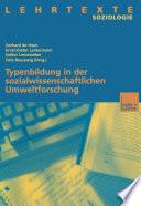 Typenbildung in der sozialwissenschaftlichen Umweltforschung