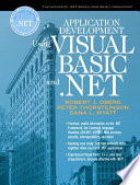 Application Development Using Visual Basic and  NET