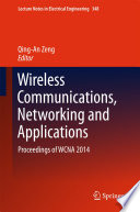 Wireless Communications Networking And Applications
