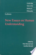 Leibniz  New Essays on Human Understanding