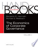The Handbook of the Economics of Corporate Governance