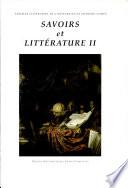 Savoirs et littérature