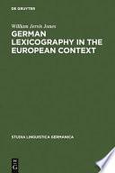 German Lexicography in the European Context