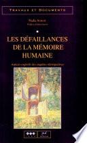 Les défaillances de la mémoire humaine