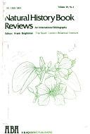 Natural History Book Reviews