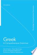 Greek  A Comprehensive Grammar of the Modern Language
