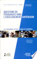 Questions de pédagogies dans l'enseignement supérieur -2vol-