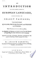An Introduction to the Most Useful European Languages ..
