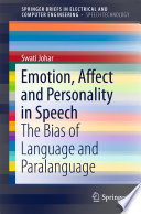 Emotion  Affect and Personality in Speech