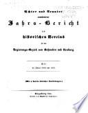 Jahrs-Bericht des Historischen Vereins für den Regierungsbezirk von Schwaben und Neuburg für ...