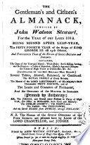 The Gentleman and Citizen's Almanack ... for the Year of Our Lord ...