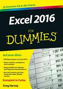 Excel 2016 f  r Dummies