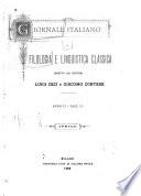 Giornale italiano di filologia e linguistica classica