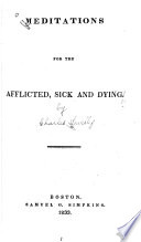 Meditations for the Afflicted  Sick and Dying