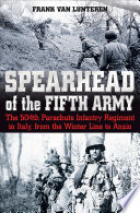 Spearhead Of The Fifth Army : 1943, the paratroopers of colonel...
