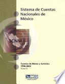 Sistema de cuentas nacionales de M  xico  Cuentas de bienes y servicios 1998 2003  Tomo II