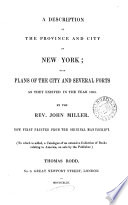 a description of the province and city of new york