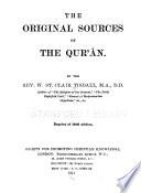 The Original Sources of the Qur   n