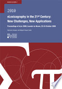 ELexicography in the 21st Century   New Challenges  New Applications